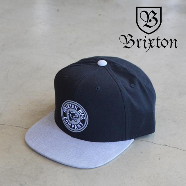 BRIXTON(ブリクストン) FORTE X MP SNAPBACK CAP (BKGRY) 【スナップバック キャップ 帽子】【ブリクストン キャップ】【定番 人気
