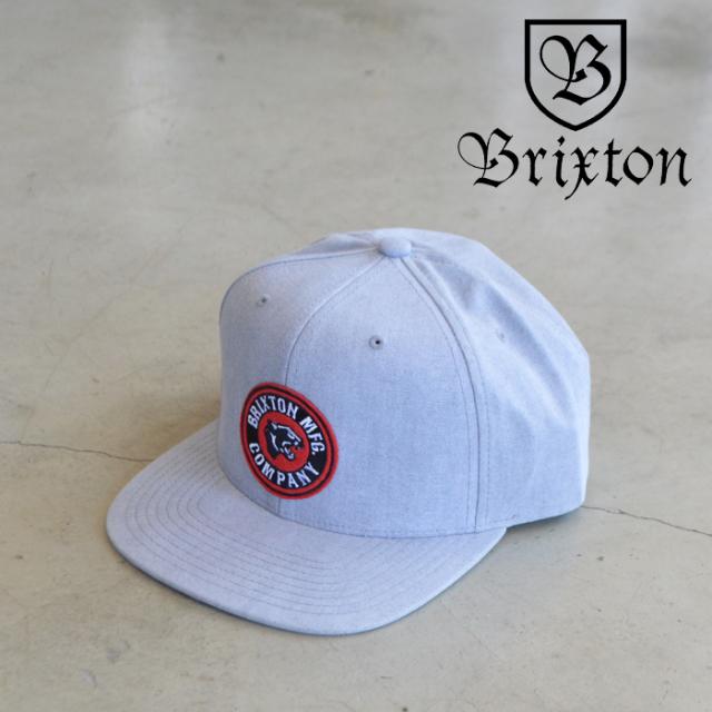BRIXTON(ブリクストン) FORTE X MP SNAPBACK CAP (GRAY) 【スナップバック キャップ 帽子】【ブリクストン キャップ】【定番 人気