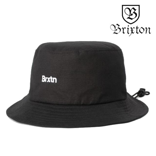 BRIXTON(ブリクストン) GATE BUCKET HAT 【バケットハット 帽子】【2020SUMMER新作】【定番 ロゴ刺繍 ブラック】