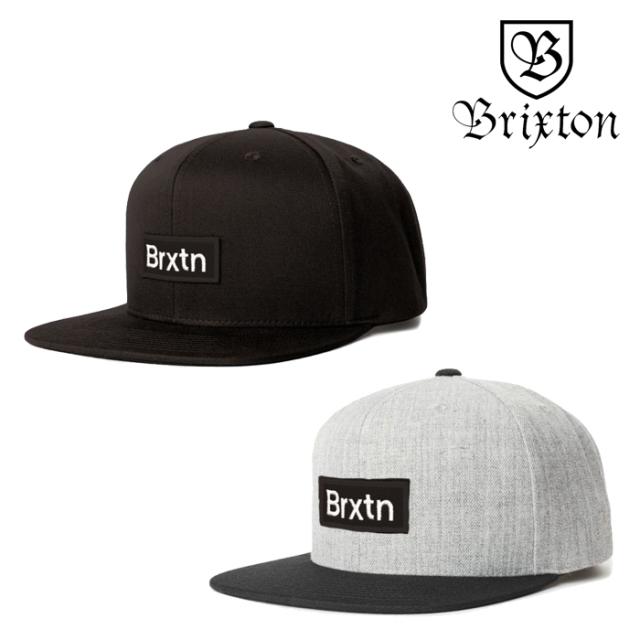 BRIXTON(ブリクストン) GATE III MP SNAPBACK CAP 【スナップバックキャップ 帽子】【2020SPRING新作】【ブラック グレー】