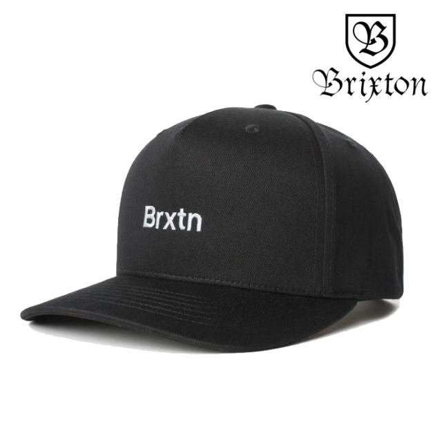 BRIXTON(ブリクストン) GATE II MP SNAPBACK CAP 【スナップバックキャップ 帽子】【2020SPRING新作】【ブラック】