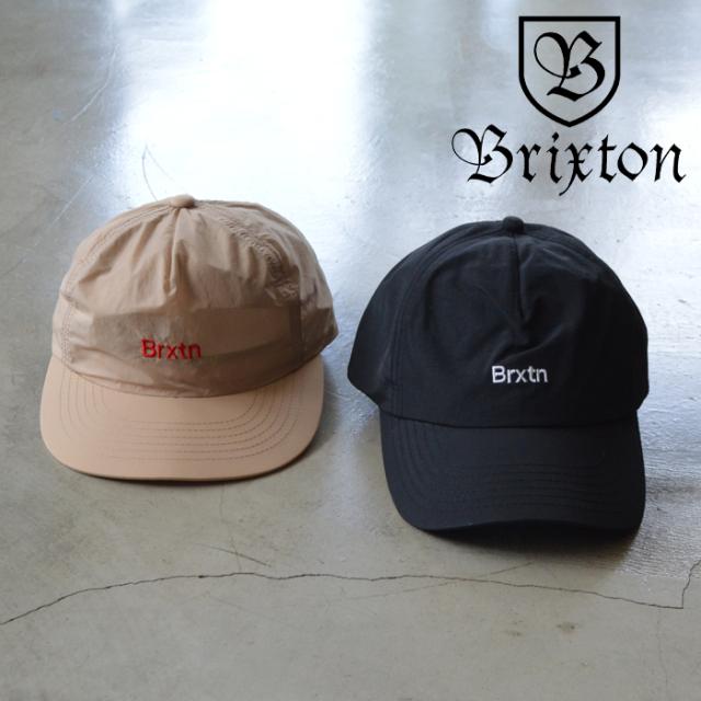BRIXTON(ブリクストン) GATE LP CAP 【キャップ 帽子 浅め 5パネル】【ブラック ベージュ】【2020SUMMER新作】