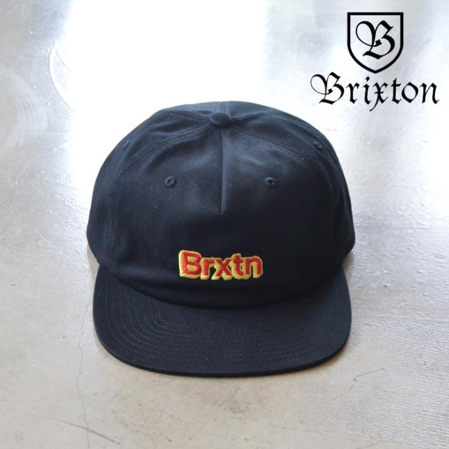 BRIXTON(ブリクストン) GATE VI MP SNAPBACK CAP 【スナップバックキャップ 帽子 6パネル】【ブラック 】【2020SUMMER新作】