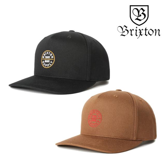 BRIXTON(ブリクストン) OATH 110 MP SNAPBACK CAP 【スナップバックキャップ 帽子】【2020SPRING新作】【ブラック ブラウン】