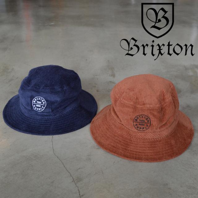 BRIXTON(ブリクストン) OATH BUCKET HAT 【バケットハット 帽子】【2020FALL新作】【コーデュロイ】【定番 ロゴ刺繍】