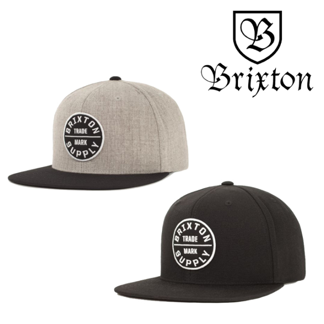 BRIXTON(ブリクストン) OATH III SNAPBACK CAP 【スナップバックキャップ 帽子】【2020HOLIDAY新作】【定番 人気 シンプル】
