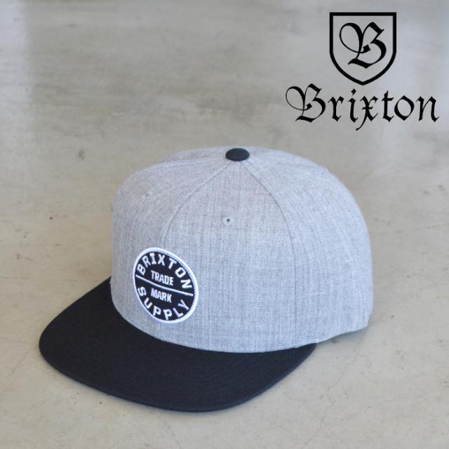 BRIXTON(ブリクストン) OATH III SNAPBACK CAP (LT HEATHER GRAY/BLACK) 【スナップバックキャップ 帽子】【ブリクストン キャップ
