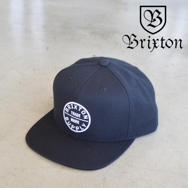 BRIXTON(ブリクストン) OATH III SNAPBACK CAP (BLACK) 【スナップバックキャップ 帽子】【ブリクストン キャップ】【定番 人気 シ