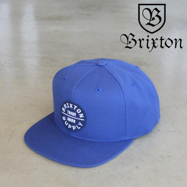 BRIXTON(ブリクストン) OATH III SNAPBACK CAP (JOE BLUE) 【スナップバックキャップ 帽子】【ブリクストン キャップ】【定番 人気