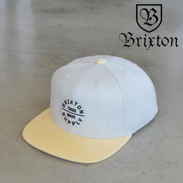 BRIXTON(ブリクストン) OATH III SNAPBACK CAP (BRONDE BEIGE) 【スナップバックキャップ 帽子】【ブリクストン キャップ】【定番