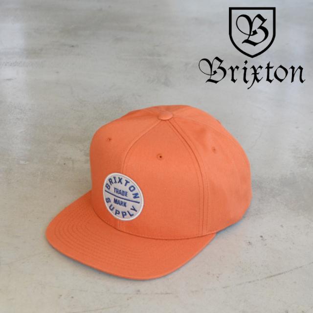 BRIXTON(ブリクストン) OATH III SNAPBACK CAP (CARAMEL) 【スナップバックキャップ 帽子】【ブリクストン キャップ】【2021SUMMER