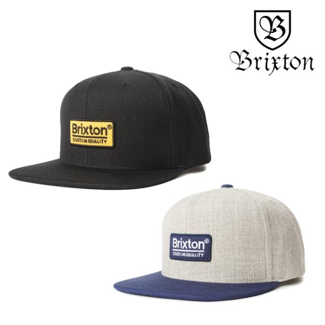 BRIXTON(ブリクストン) PALMER II MP SNAPBACK  【スナップバックキャップ 帽子】【2020SPRING新作】【ブラック グレー】