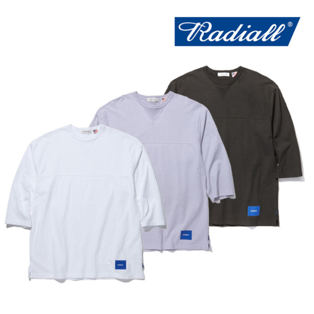 RADIALL(ラディアル) FADE - CREW NECK T-SHIRT 3Q/S 【2019 SPRING&SUMMER COLLECTION】 【RAD-19SS-CUT001】【7分Tシャツ】