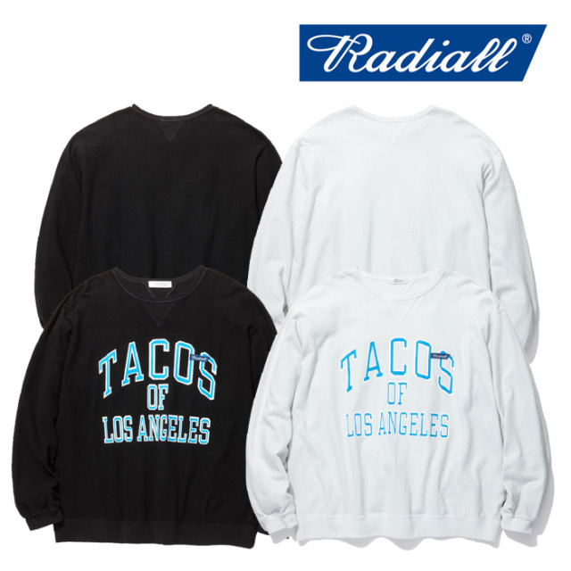 RADIALL(ラディアル) LAID BACK- CREWNECK SWEATSHIRT L/S 【2019 SPRING&SUMMER COLLECTION】 【RAD-19SS-CUT005】【クルーネッ