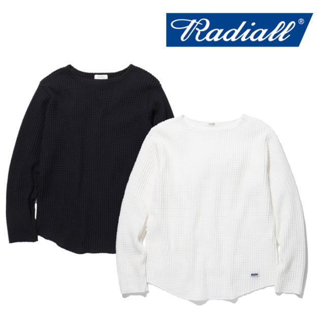 【SALE30%OFF】 RADIALL(ラディアル) BIG WAFFLE-  BOAT NECK T-SHIRT L/S 【セール】【2019 SPRING&SUMMER COLLECTION】 【RAD-