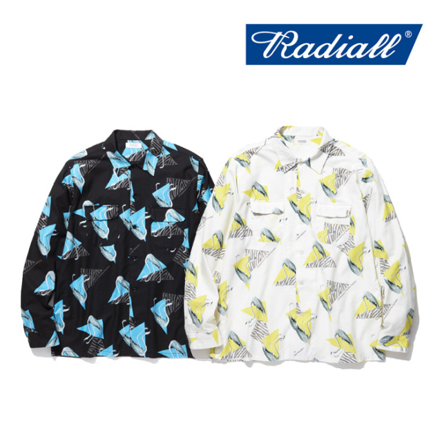 RADIALL(ラディアル) FLAMINGO-OPEN COLLERED SHIRT L/S 【2019 SPRING&SUMMER COLLECTION】 【RAD-19SS-SH003】【シャツ】【フラ