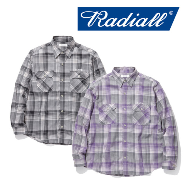RADIALL(ラディアル) COMPTON - REGULAR COLLARED SHIRT L/S 【2019 SPRING&SUMMER COLLECTION】 【RAD-19SS-SH007】【オンブレチ