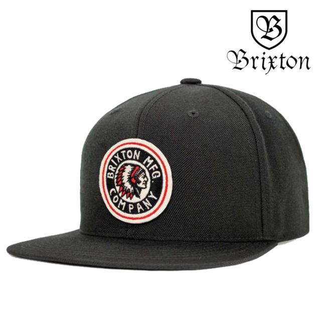 BRIXTON(ブリクストン) RIVAL SNAPBACK CAP(BLACK) 【スナップバックキャップ 帽子 6パネル】【黒 ブラック】【2020SUMMER新作】