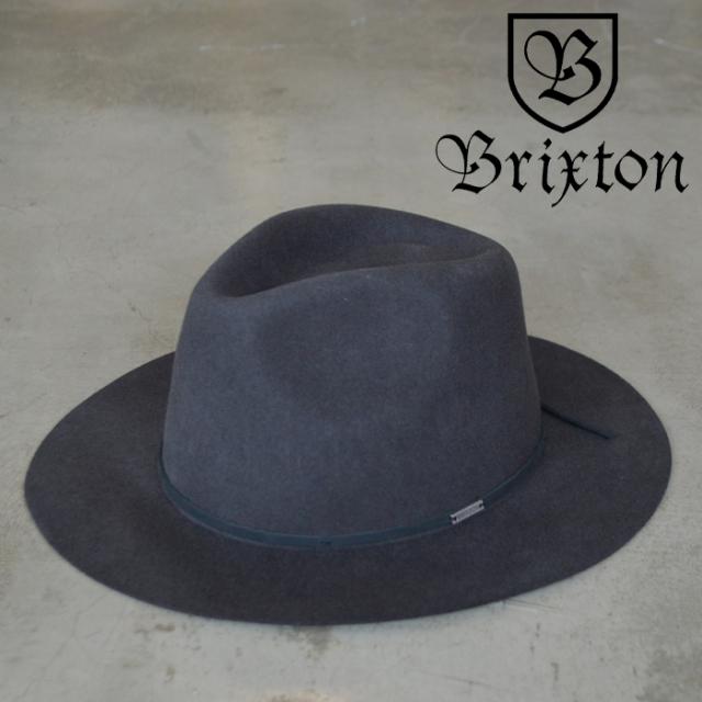 BRIXTON(ブリクストン) WESLEY PACKABLE FEDORA 【パッカブル フェルト ハット 帽子】【2020FALL新作】