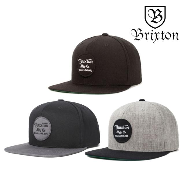 BRIXTON(ブリクストン) WHEELER SNAPBACK CAP 【スナップバックキャップ 帽子】【2020SPRING新作】【ブラック グレー】