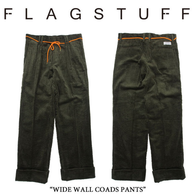 【SALE 20%OFF】 F-LAGSTUF-F(フラグスタフ) WIDE WALL COADS PANTS 【2017 AUTUMN/WINTER COLLECTION】】 【F-LAGSTUF-F】 【