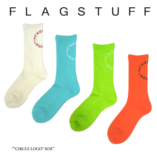 "F-LAGSTUF-F(フラグスタフ) ""CIRCLE LOGO"" SOX 【2017 AUTUMN/WINTER COLLECTION】 【F-LAGSTUF-F】 【フラグスタフ】【フラッグ"
