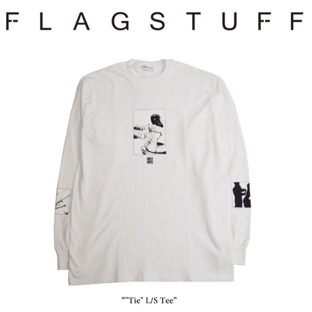 "F-LAGSTUF-F(フラグスタフ) ""Tie"" L/S Tee 【2018 SPRING&SUMMER COLLECTION】 【送料無料】 【F-LAGSTUF-F】 【フラグスタフ】"