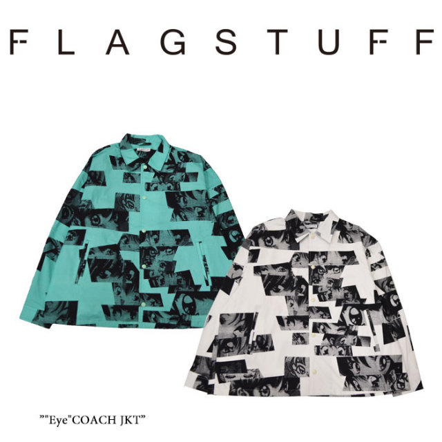 """【SALE】 F-LAGSTUF-F(フラグスタフ) """"Eye""""COACH JKT 【2018 SPRING&SUMMER COLLECTION】 【2018SS-FS-07】"""