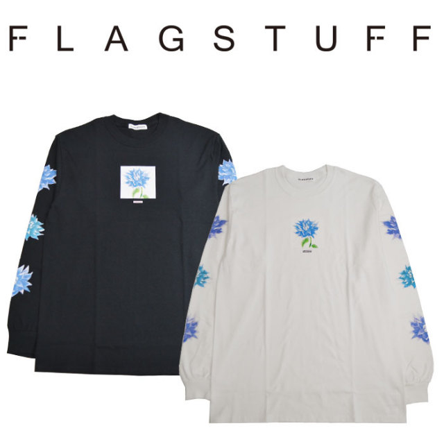 "F-LAGSTUF-F(フラグスタフ) ""Dahlia"" L/S Tee 【2018 SPRING&SUMMER COLLECTION】 【F-LAGSTUF-F】 【フラグスタフ】【フラッグ"