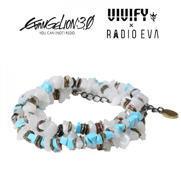 VIVIFY x RADIO EVA  Pebble &Metal Chip's Beads Cord/綾波レイ 【エヴァンゲリオン 公式アクセサリー】【evangelion】 【受注