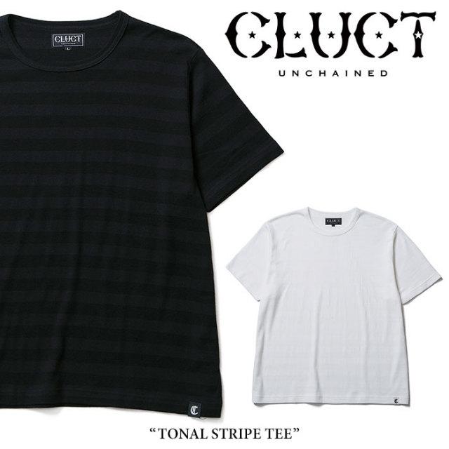 CLUCT(クラクト) TONAL STRIPE TEE 【2018SUMMER先行予約】 【キャンセル不可】 【#02375】