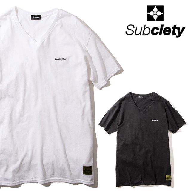 SUBCIETY(サブサエティ) VNECK TEE 【Tシャツ 半袖 Vネック】【103-40550】【2020SUMMER先行予約】【キャンセル不可】