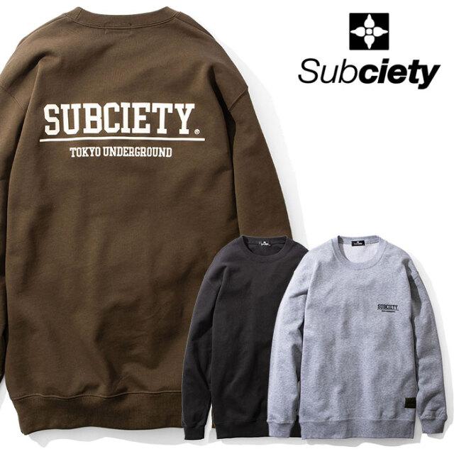 SUBCIETY(サブサエティ) SWEAT 【スウェット】【104-31589】【2020AUTUMN&WINTER先行予約】【キャンセル不可】
