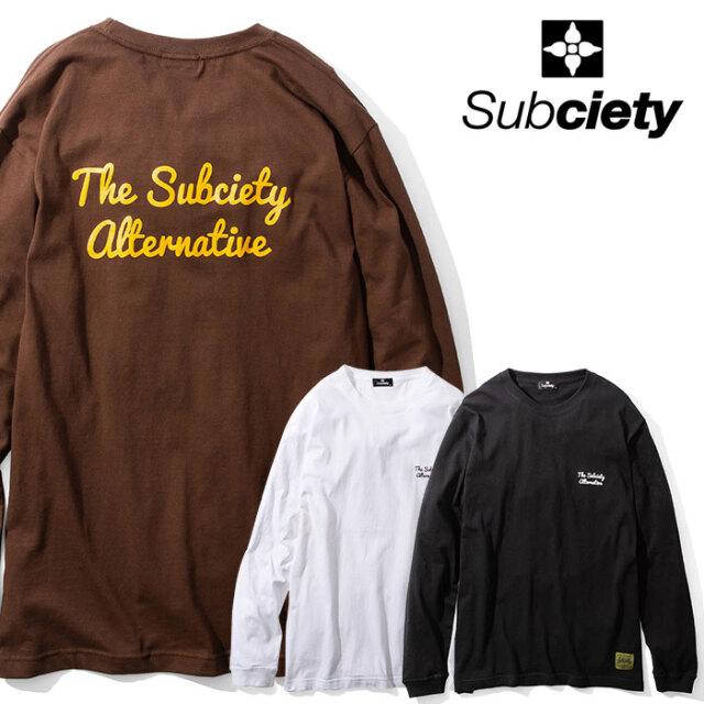 SUBCIETY(サブサエティ) alternative L/S 【Tシャツ 長袖】【104-44601】【2020AUTUMN&WINTER先行予約】【キャンセル不可】