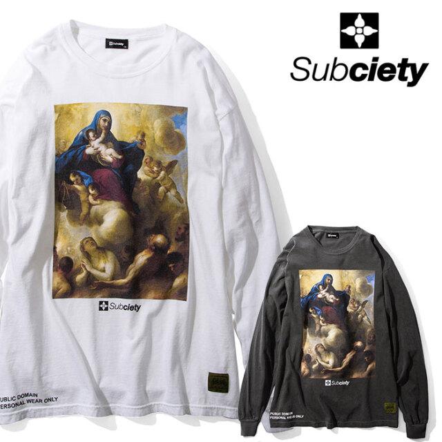 SUBCIETY(サブサエティ) Purgatory L/S 【Tシャツ 長袖】【104-44606】【2020AUTUMN&WINTER先行予約】【キャンセル不可】