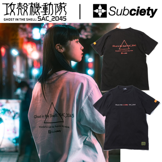 SUBCIETY(サブサエティ)×攻殻機動隊 Ghost in the Subciety S/S 【Tシャツ 半袖】【即発送可能】【105-40210】【コラボレーション