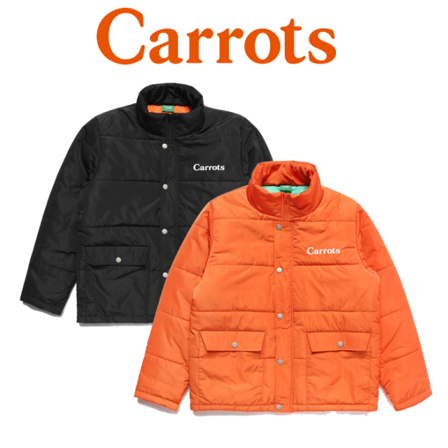 "CARROTS(キャロッツ) SPORT PUFFER JACKET 【""Carrots"" -by Anwar Carrots-】【2019FALL新作】 【送料無料】【アウター 黒 ブラッ"