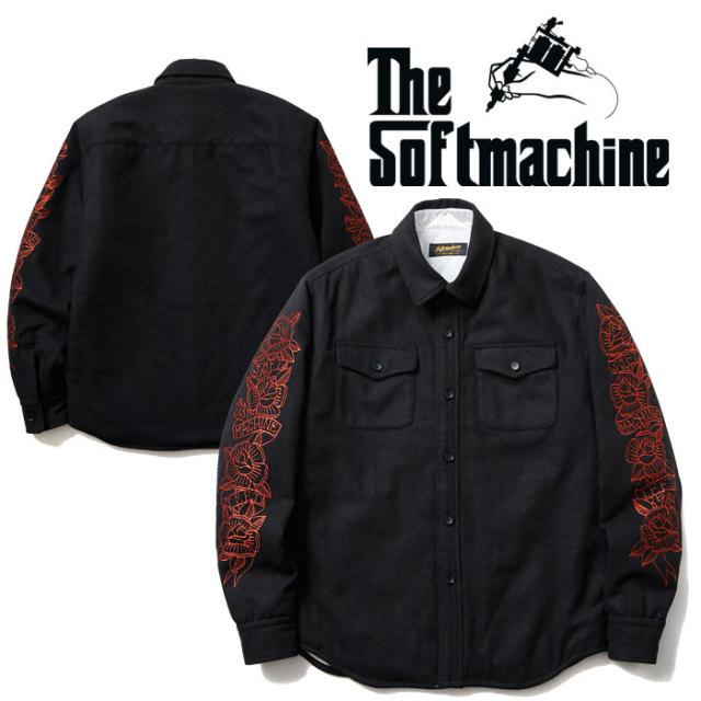 【SALE30%OFF】 SOFTMACHINE(ソフトマシーン) BLOOM CPO(CPO TYPE JACKET) 【CPO ジャケット】【ブラック 黒 刺繍】 【2019AUTUM
