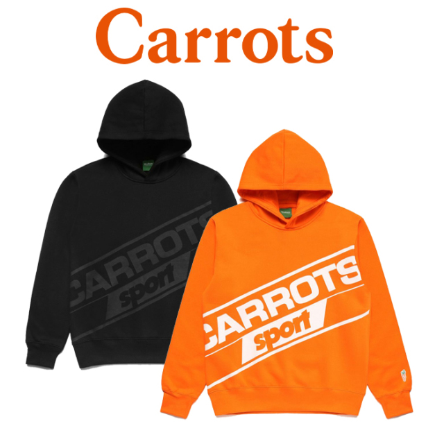 "CARROTS(キャロッツ) CARROTS SPORT HOODIE 【""Carrots"" -by Anwar Carrots-】【2019FALL新作】 【送料無料】【スウェット パーカ"