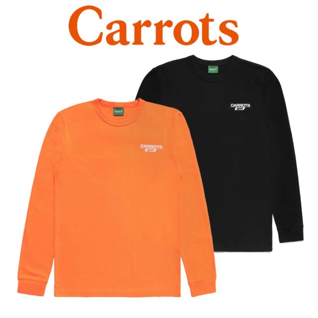 "CARROTS(キャロッツ) CARROTS SPORT LONG SLEEVE 【ロングスリーブ ロンT 長袖】【黒 ブラック オレンジ】 【""Carrots"" -by Anwar"