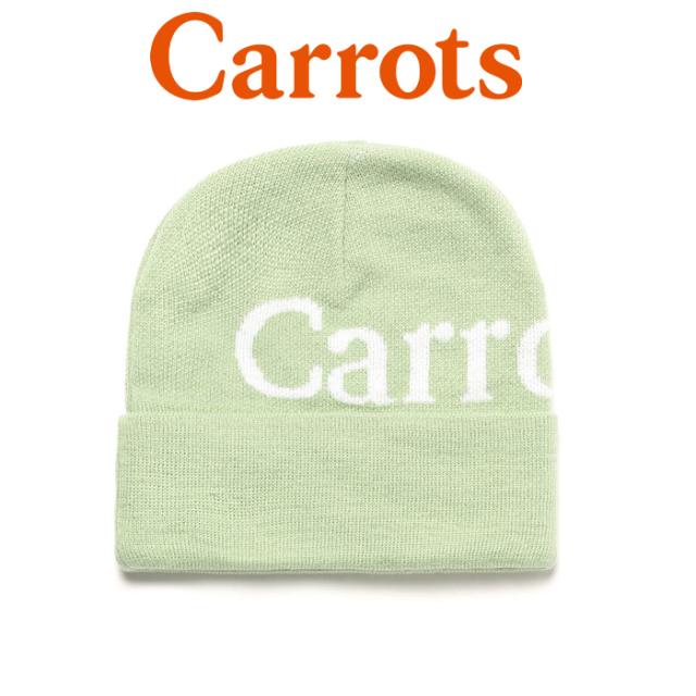 """【SALE30%OFF】 CARROTS(キャロッツ) WORDMARK BEANIE 【ビーニー ニット帽 帽子】【定番 ブラック おしゃれ】【セール】 【""""Car"""