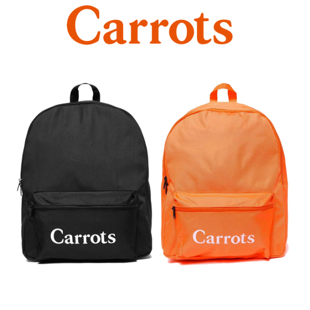 "【SALE50%OFF】 CARROTS(キャロッツ) WORDMARK BACKPACK 【バックパック リュック】【黒 ブラック オレンジ】【セール】 【""Carr"