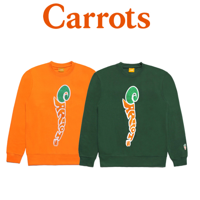 【SALE30%OFF】 CARROTS(キャロッツ) GROOVY WORDMARK CREWNECK SWEATSHIRT 【セール】【クルーネック スウェット】【シンプル 人