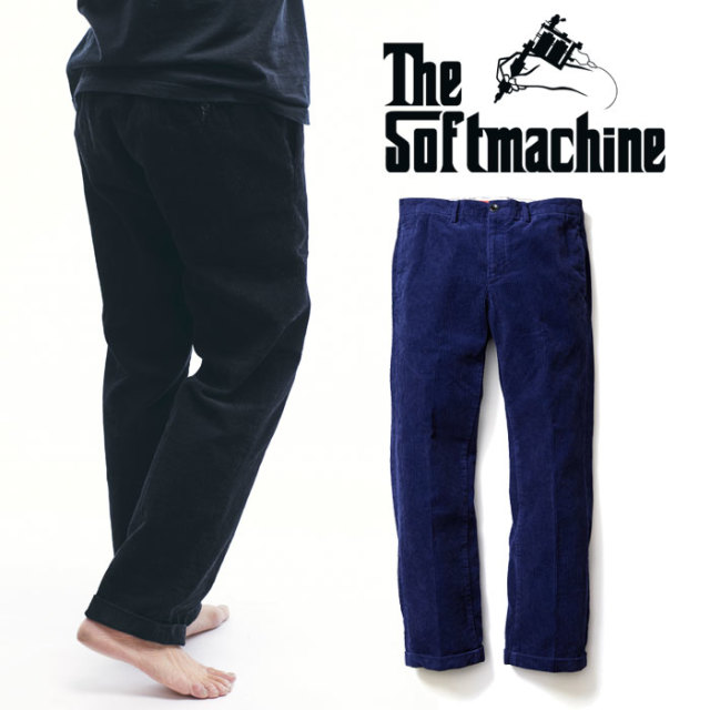 SOFTMACHINE(ソフトマシーン) LAVEY CORD(CORDUROY SLACKS) 【コーデュロイ スラックス パンツ】【ブラック ネイビー】【送料無料