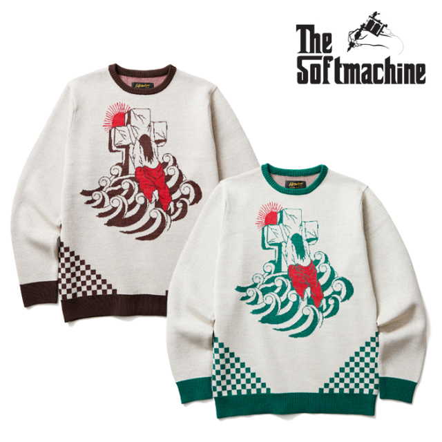 SOFTMACHINE(ソフトマシーン) ROCK OF AGES SWEATER(CREW NECK SWEATER) 【2019AUTUMN/WINTER先行予約】【キャンセル不可】 【送