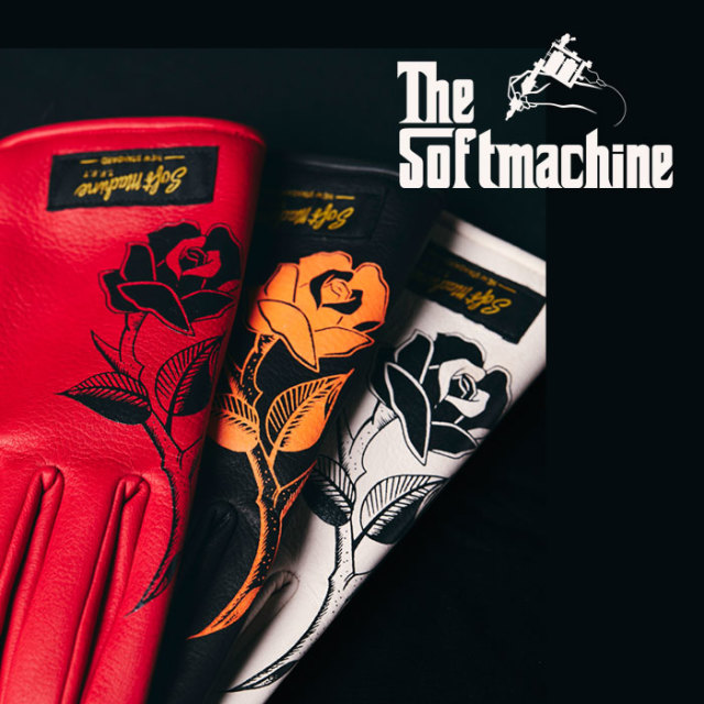 SOFTMACHINE(ソフトマシーン) ROSES GLOVE(LEATHER GLOVE) 【レザーグローブ】【手袋】【2019AUTUMN/WINTER新作】