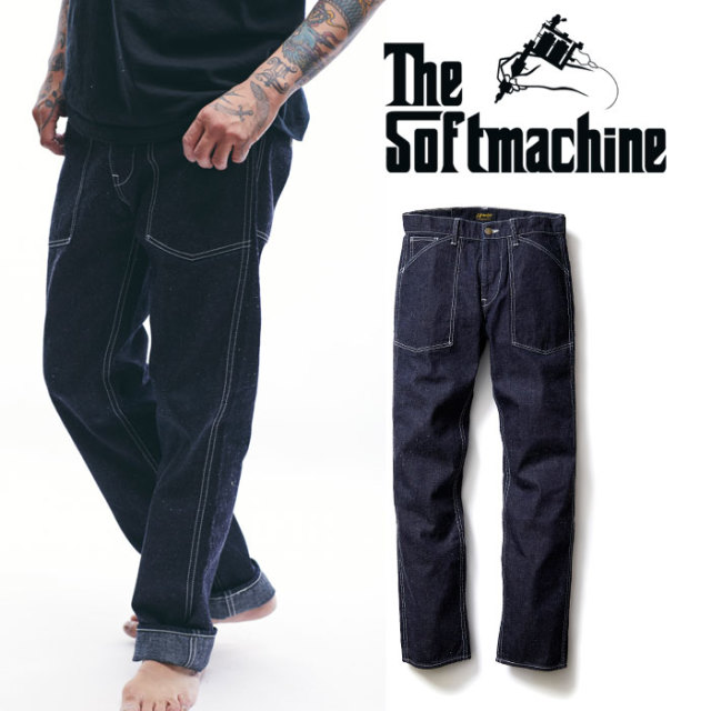 SOFTMACHINE(ソフトマシーン) SMITH PANTS(BAKER PANTS) 【2019AUTUMN/WINTER新作】【送料無料】【ベイカー パンツ  デニム】