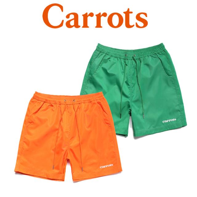 【SALE50%OFF】 CARROTS(キャロッツ) SERVADIO WORDMARK NYLON SHORTS 【ショートパンツ 短パン】【グリーン オレンジ 人気 おし