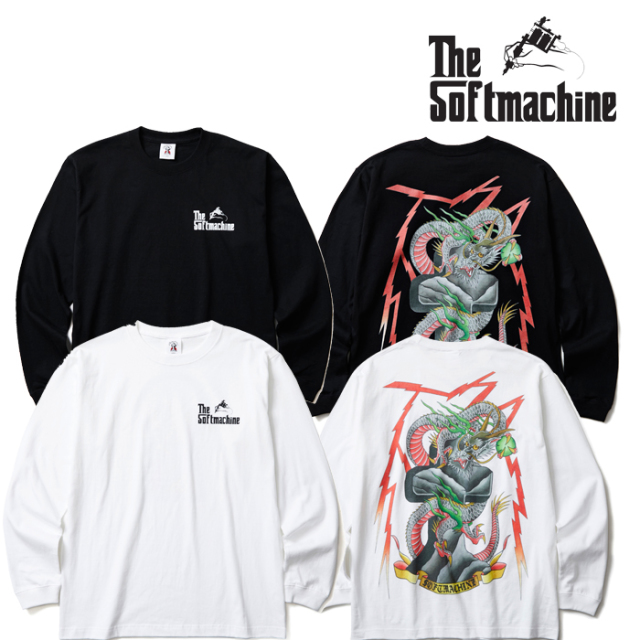 【SALE30%OFF】 SOFTMACHINE(ソフトマシーン) THUNDERBOLT L/S(L/S T-SHIRT) 【ロンT Tシャツ】【秋冬新作】【ホワイト ブラック