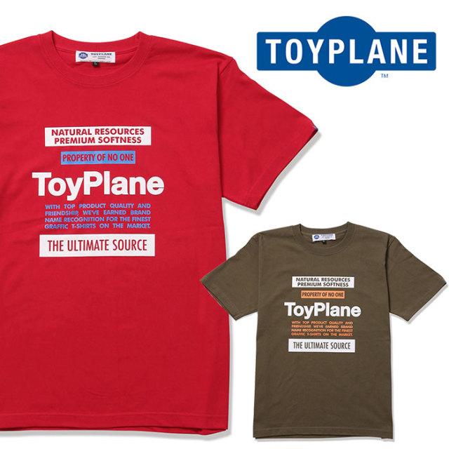 TOYPLANE(トイプレーン) PROPERTY  TEE 【2019 2nd先行予約】【キャンセル不可】 【TP19-NTE05】【Tシャツ】